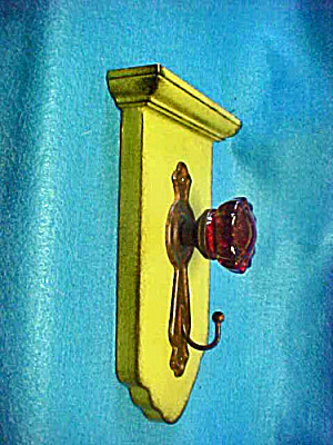 Door Knob Hook - Green - Wall Decor