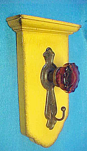 Door Knob Hook - Yellow - Wall Decor