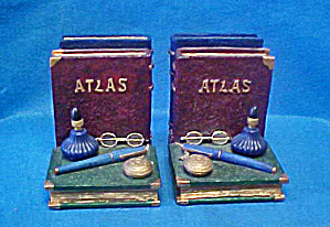 Atlas Antique Style Bookends