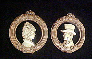 Victorian Male/female Plaques