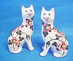Pair Wemyss Cats - 20th Century