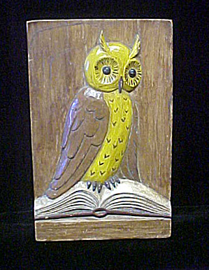 Owl Plaque - High Relief - 20th Century