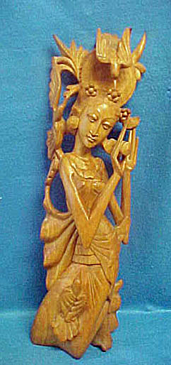 Sita Wooden Sculpture - 20th Century