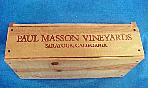 Paul Masson Vineyards Wood Wine Box