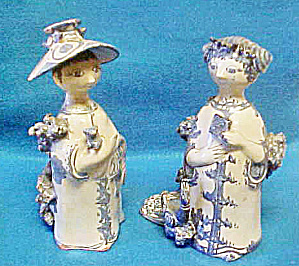 Pair Of Bjorn Wiinblad Figures - Signed/dated