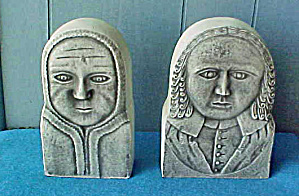 Colonial Bookends - Historical Art - 20 C