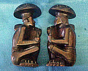 Carved Polynesian Bookends - 20th Century