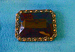 Faceted Large Stone Belt Buckle - 20th C