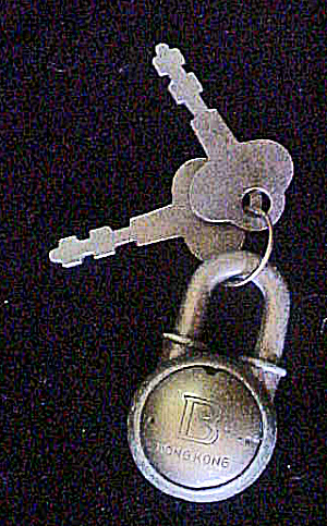 Small Metal Padlock W/2 Keys - 20thc