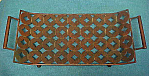 Metal Tray With Handles - Decorative