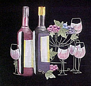 Still Life Metal Art - Wine Grouping