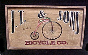 J.t. & Sons Bicycle Co. - Wood Sign