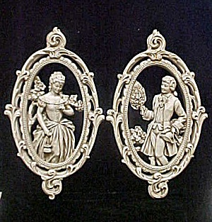 Vintage Male & Female Wall Plaques