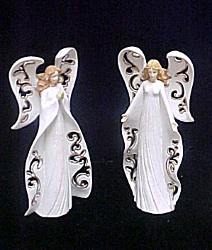 Pair Of Angel Candle Holders