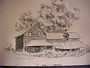 Print Of Early Riverside Ranch