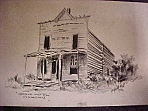 Print Of Early Western Grand Hotel Elkhorn