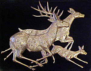 Brass Deer Plaque