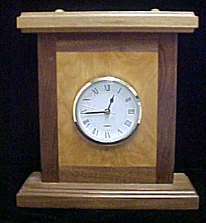 Wood Inlaid Mantel Quartz Clock