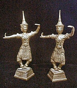 Pair Of Brass Thai Bookends