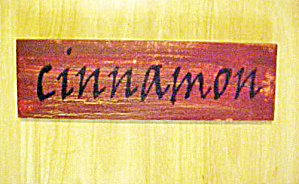 Cinnamon Wooden Spice Sign