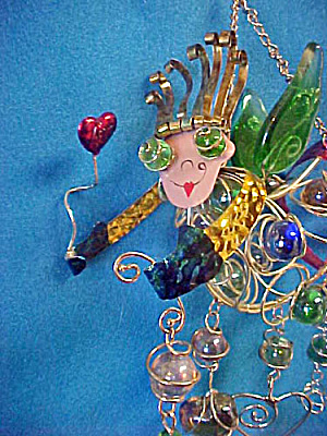 Fanciful Fairy Wire & Glass Marbles Ornament