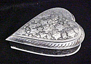 Metal Heart Shaped Box - Vintage