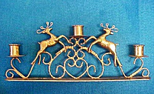 Reindeer Candle Holder - Holds 3 Candles