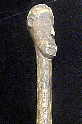 Wooden Mace/club - Figure Head