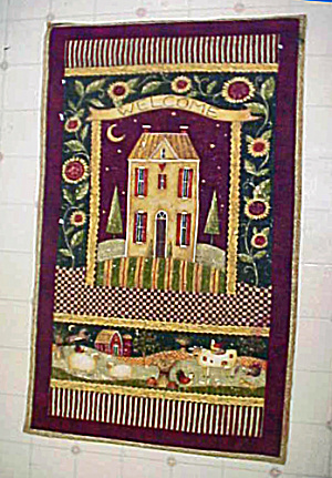 Quilted Style Wall Hanging - Amish