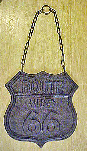 Route 66 Cast Iron Emblem Sign