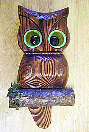 Wooden Owl - Wall Decor