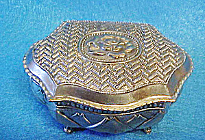 Floral Trinket Box - Hinged