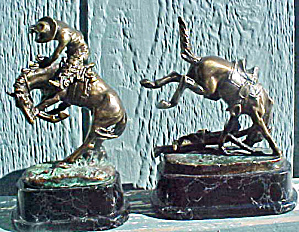 Bronco Buster Western Bookends