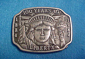 Statue Of Liberty Metal Belt Buckle - 20th C