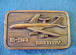 Sentry E-3a Military Airplane Belt Buckle