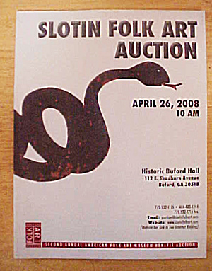 Slotin Folk Art Auction Catalog - April 2008