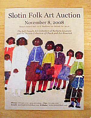 Slotin Folk Art Auction Catalog - Nov 8, 2008