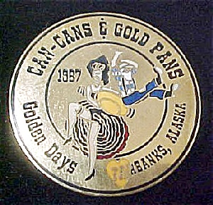Can-cans & Gold Pans Alaska Pin