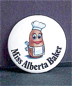 Miss Alberta Baker Pin Back