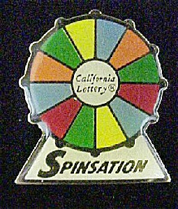 Spinsation Calif. Lottery Lapel Pin
