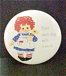 Red Headed Rag Doll Pin-back