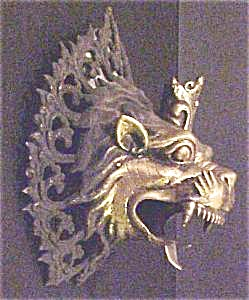 Nepal Temple Dragon/lion? Head Candleholder