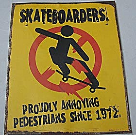 Sheet Metal Skateboarder Sign