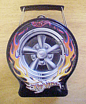 Hot Wheels - Flaming Black Tire Tin