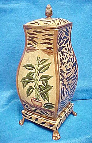 Large Decorative Tin Container