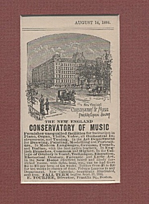 Conservatory Of Music Ad