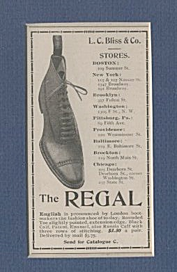 Matted Regal Shoe Ad