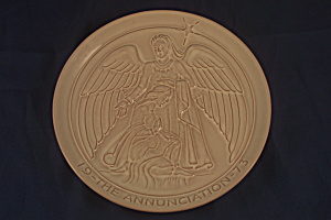 Frankoma 1973 The Annunciation Plate