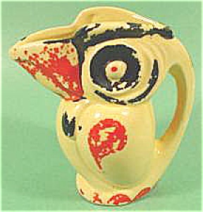 Yellow Ceramic Bird Pitcher - Made In Japan