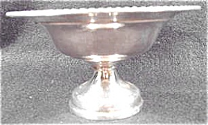Silverplate On Copper - Compote - Gadroon Border